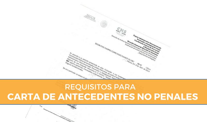 Tramitar Carta de Antecedentes No Penales